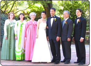 Wedding of our son, Dave, to Min Qian (Michelle) Chen, 2007