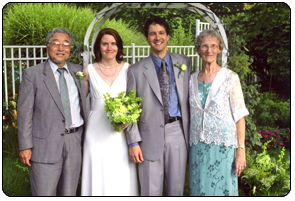 Wedding of our son, Steve, to Jeanne Marie Tracey. 2006